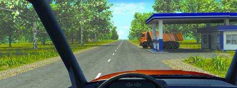 Должны ли Вы уступить дорогу грузовому автомобилю в данной ситуации?