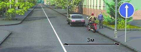 Разрешена ли водителям остановка в указанных местах?