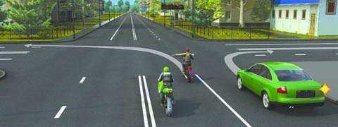 Кто нарушает правила поворота на перекрестке?