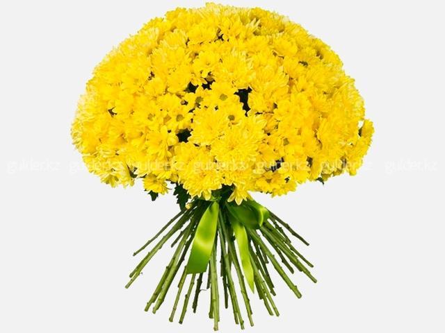 Букет желтых хризантем